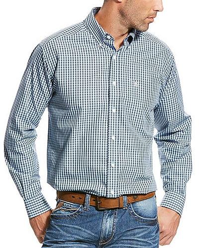 Ariat Men's Long Sleeve Wrinkle Free Quakerton Print Shirt