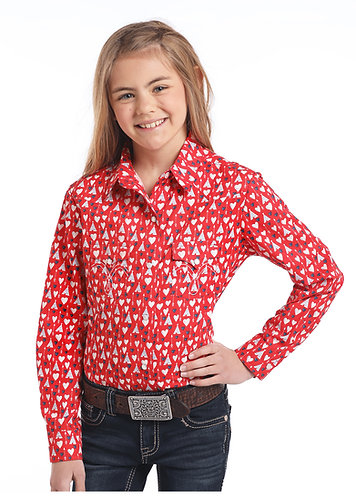 PANHANDLE SLIM GIRLS LS SNAP