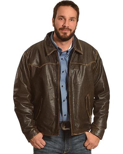 Cripple Creek Men's 90 Antique Leather Jacket
