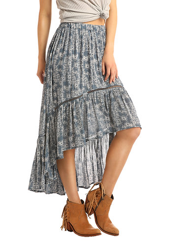 ROCK AND ROLL COWGIRL  HI-LO SKIRT