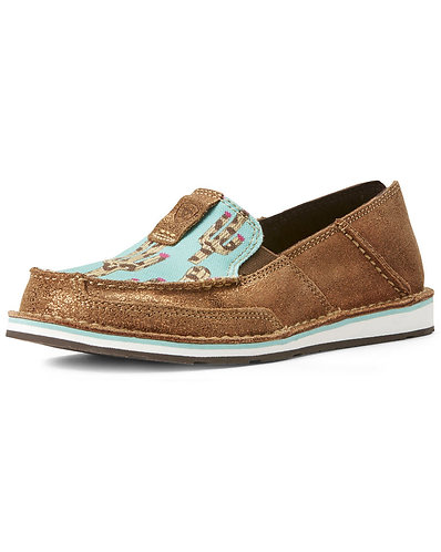Ariat Women's Cruiser Leopard Cactus Slip-On Shoes - Moc Toe