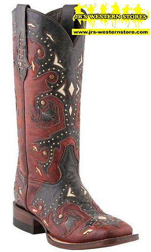 Lucchese Red/Grey Boots