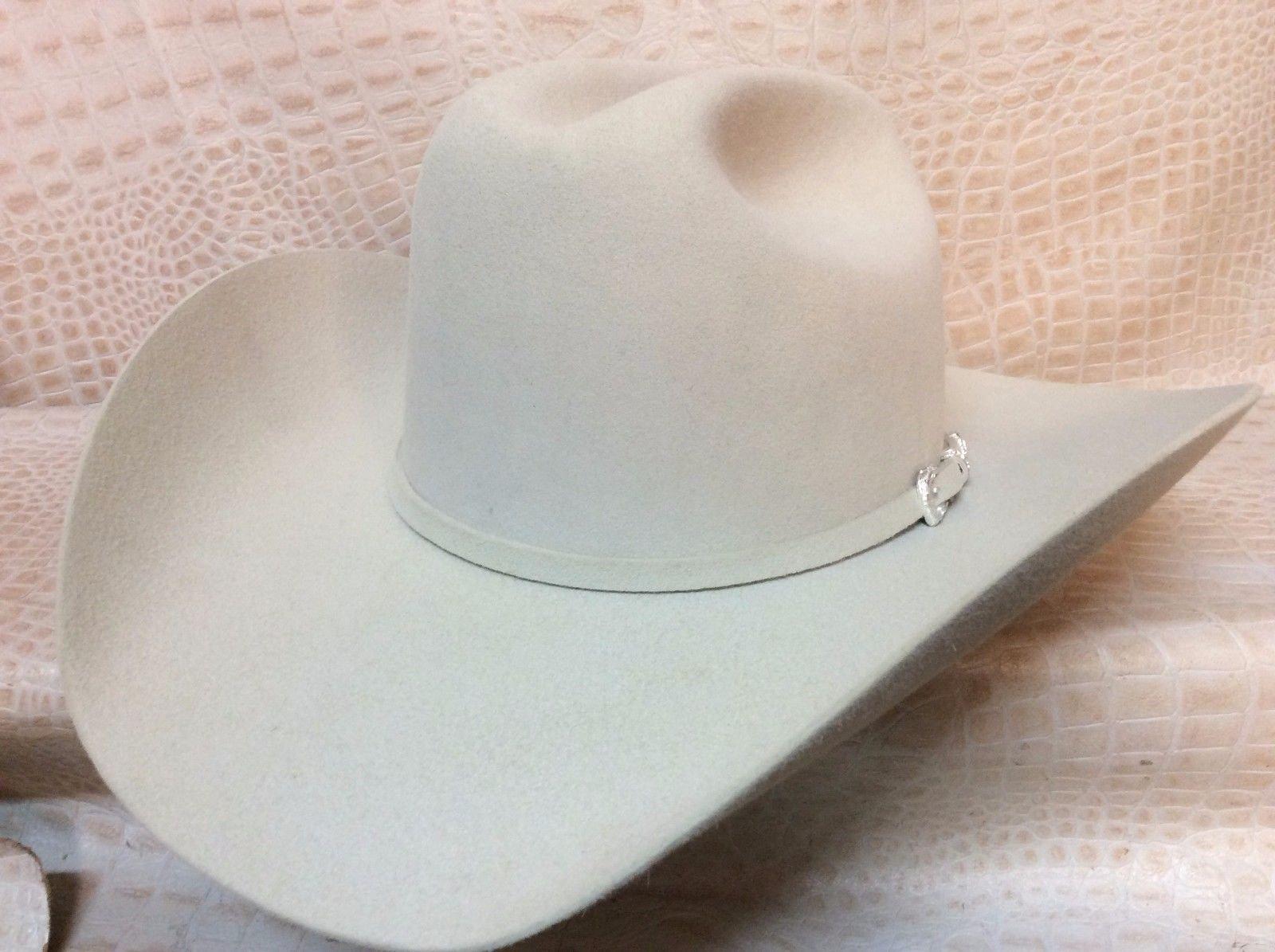 252c31534cc71b Stetson Lariat 5x Beaver Fur Felt Cowboy Hat Leather Band Inside 4 Inch  Brim Crown Height: 4 5/8 inch Shape: Original (D)Stetson Lariat 5x Beaver  Fur Felt ...