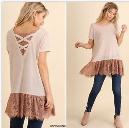UMGEE-Cappuccino-Lace-Detail-Tunic-Top  UMGEE-Cappuccino-Lace-Detail-Tunic-Top