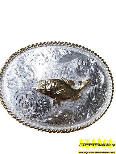 Fish Flourish Western Belt Buckle