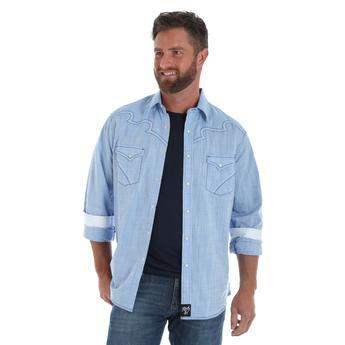 Rock 47® by Wrangler® Long Sleeve Shirt - Light Blue