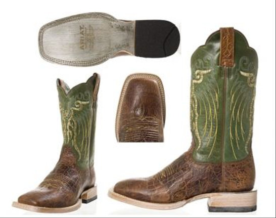 5ba297b8eec Ariat Men's Mesteno Brown/Green Boot #10006841 | JRs Western Store