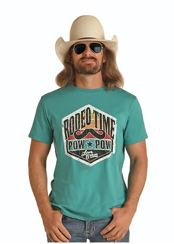 DALE BRISBY BY ROCK & ROLL DENIM GRAPHIC T-SHIRT