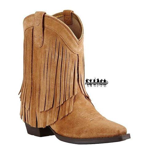 Ariat Gold Rush Suede Fringe Kid's Boot