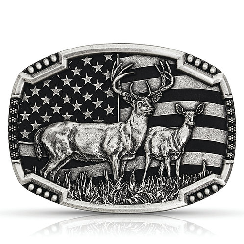 MONTANA SILVERSMITHS Matched Pair Deer Buckle