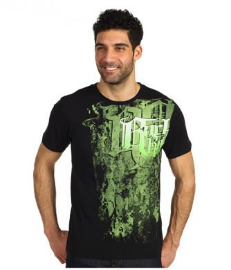 Rock & Roll Cowboy Black/Lime T-Shirt #P9-3103