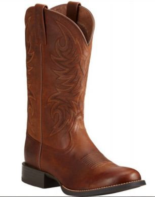 Ariat Men's Sport Horseman Brown Cowboy Boots - Round Toe 10021700