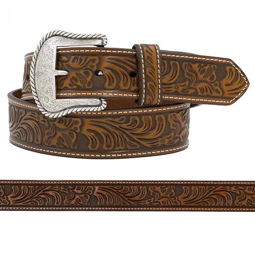 Nocona Brown Tooled Leather Belt - N2446008