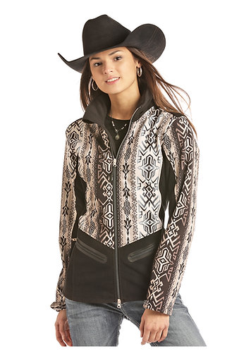 POWDER RIVER OUTFITTERS   AZTEC PRINTED SOFTSHELL