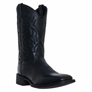 Lardeo Men's Black Square Toe Boot #7860