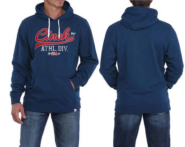 Cinch Navy Hoodie w/Red Logo Hooded Sweatshirt