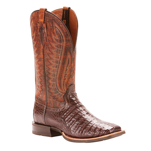Ariat® Men's Double Down Caiman Belly Wide Square Toe Boots