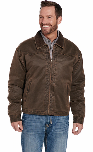 CRIPPLE CREEK ENZYME WASHED COTTON ZIP FRONT JACKET