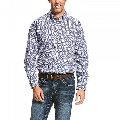 Ariat® Men's L/S Micro Chip Blue Pacquin Button Shirt