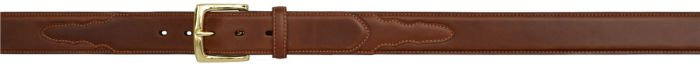 3D 1 1/2 inch Tan Men's Western Basic Belt