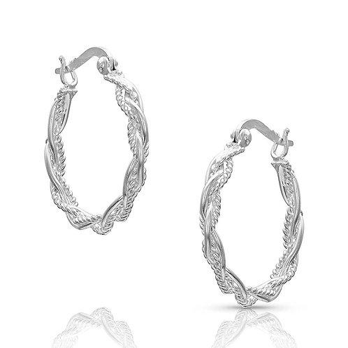 MS Braided Rope Hoop Earrings