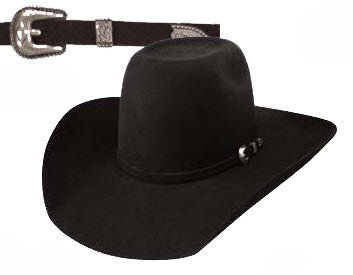Resistol Cowboy Hat Boys Tuff Hedeman Pay Window Jr Black