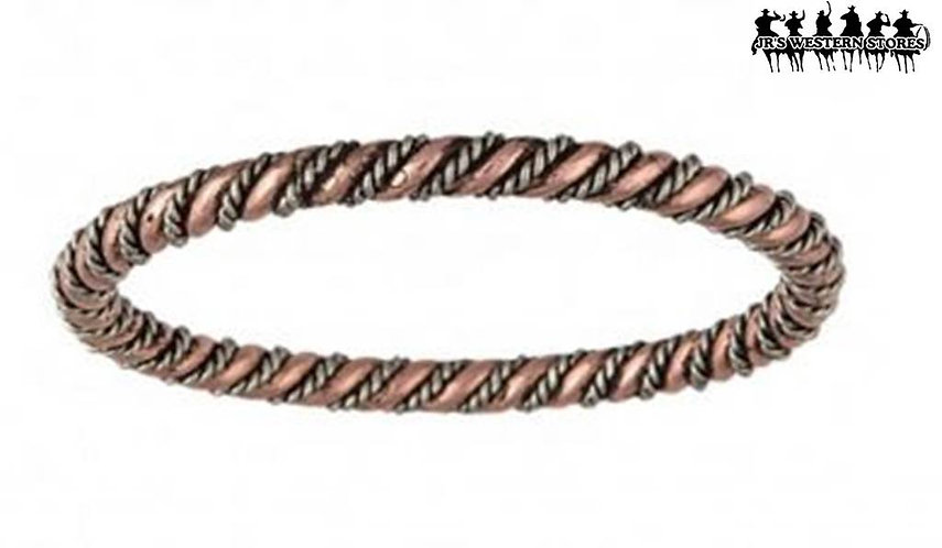 Rope & Wire Coil Bangle