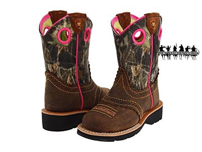 Ariat Fatbaby Brown/Mossy Oak Kid's Boot