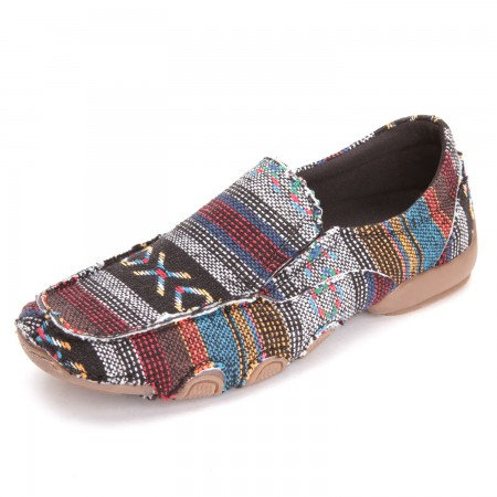 Roper Womens Southwest Driving Moc Shoes Multicolored