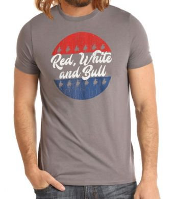 DALE BRISBY BY ROCK & ROLL DENIM RED; WHITE & BULL TEE