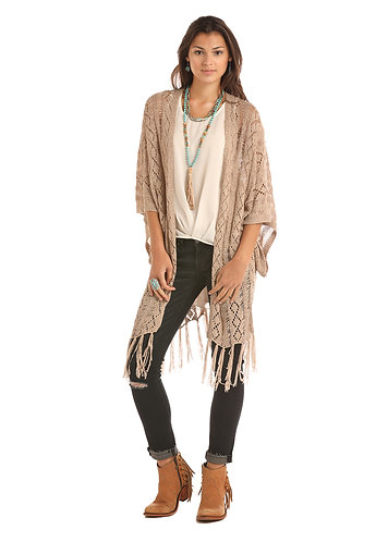 ROCK AND ROLL COWGIRL PRINTED CARDIGAN