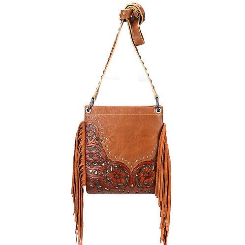 Montana West Real Leather Fringe Shoulder/Crossbody Bag
