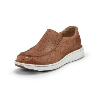 Justin Mens Easy Rider Hazer Tan Casuals