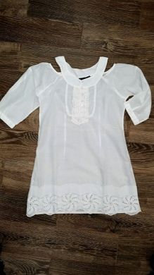 J.K. Collections Ladies White Off Shoulder Top 1708