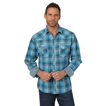 Wrangler® 20X® Advanced Comfort Competition Shirt - MJC237M - Blue/Navy