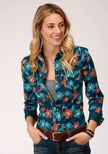 Roper Ladies Long Sleeve Western Style Shirt