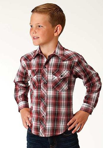 Boy's Long Sleeve Western Style Shirt