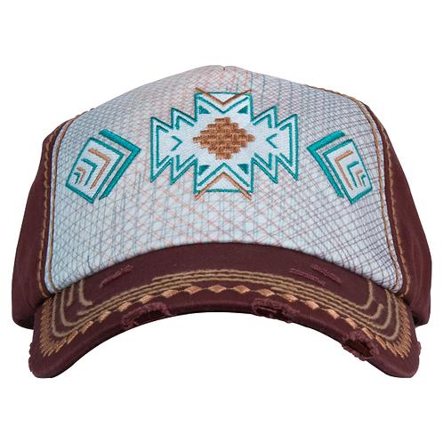 Catchfly - Women's Aztec Embroidered Crosshatch Cap