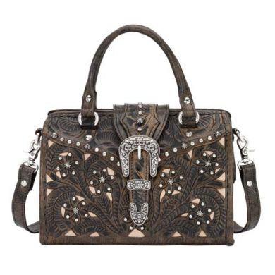 American West Tumbleweed Hand Tooled Handbag