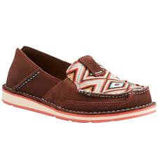 Ariat Women's Coffee Bean/Pastel Aztec Cruiser Slip On Shoes