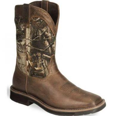 Justin Stampede Men's Camouflage Waterproof Boots #WK4676