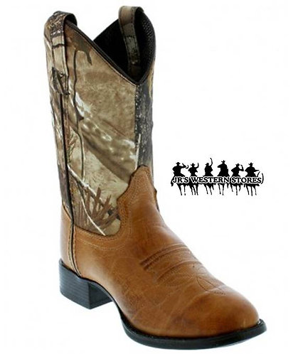 Old West Camo/Brown Kid's Boot