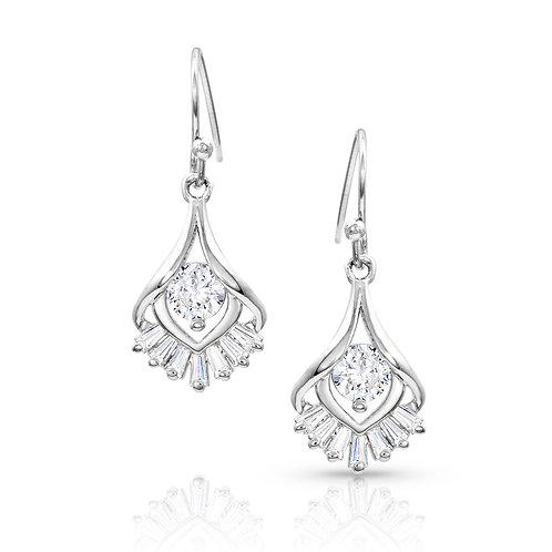 Star's Burst Drop Earrings