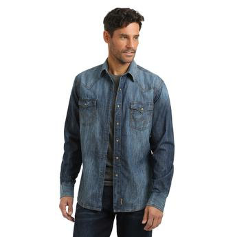 Wrangler Retro® Premium Shirt - MVR458D - Blue Denim