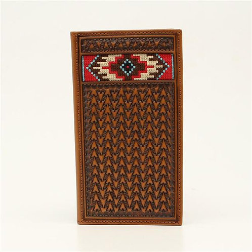 Ariat Rodeo Multi-color Embroidery Wallets, Tan