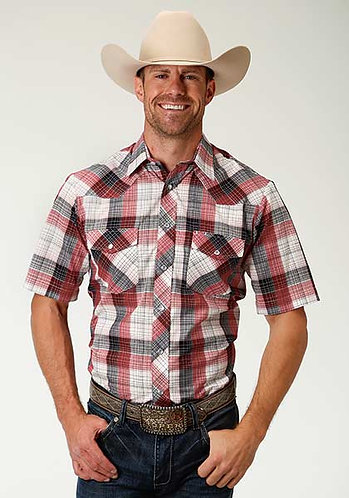 Men's Short Sleeve Western Style Shirt
