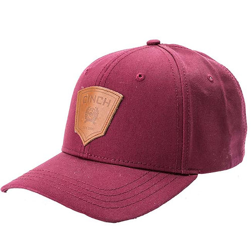 Cinch Patch Burgundy Ball Cap