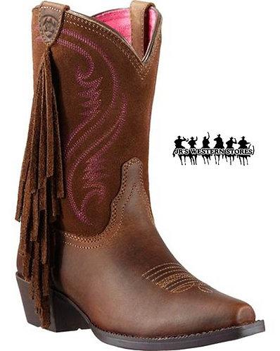 Ariat Fancy Fringe Brown Kid's Boot