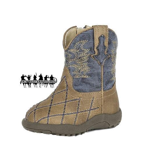 Roper Tan Cross Cut Infant Boots