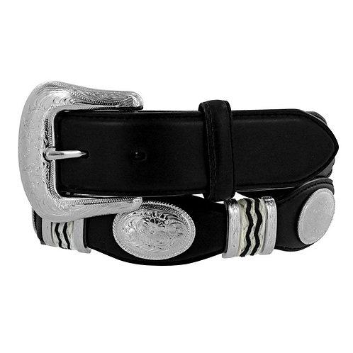 Tony Lama Men's Black Cutting Champ Western Belt